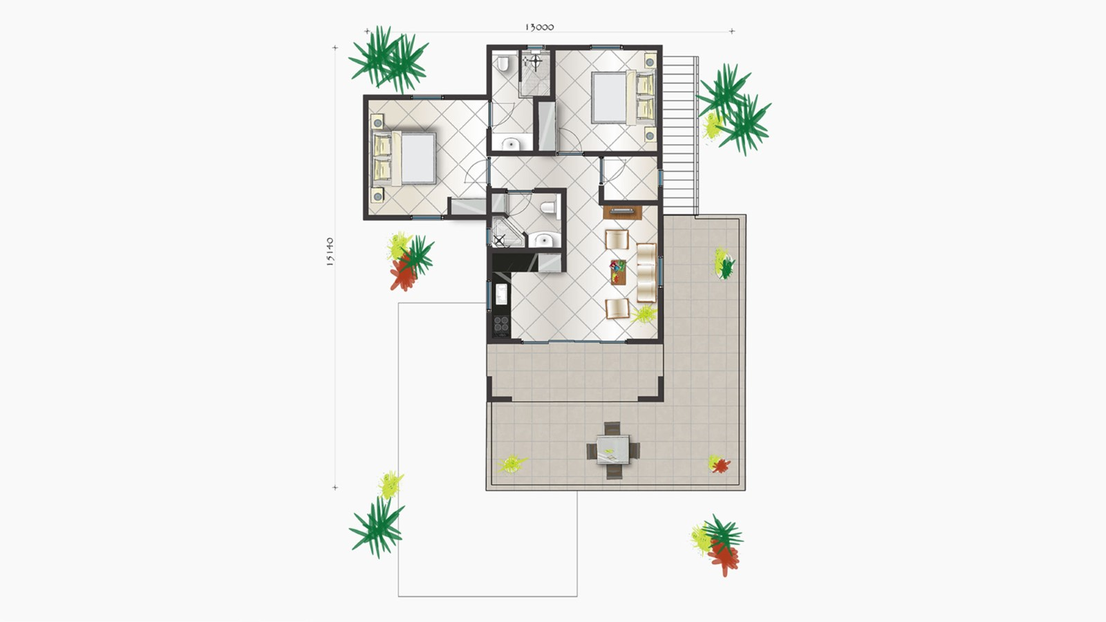 Apartment Prikichi - 2 bedrooms