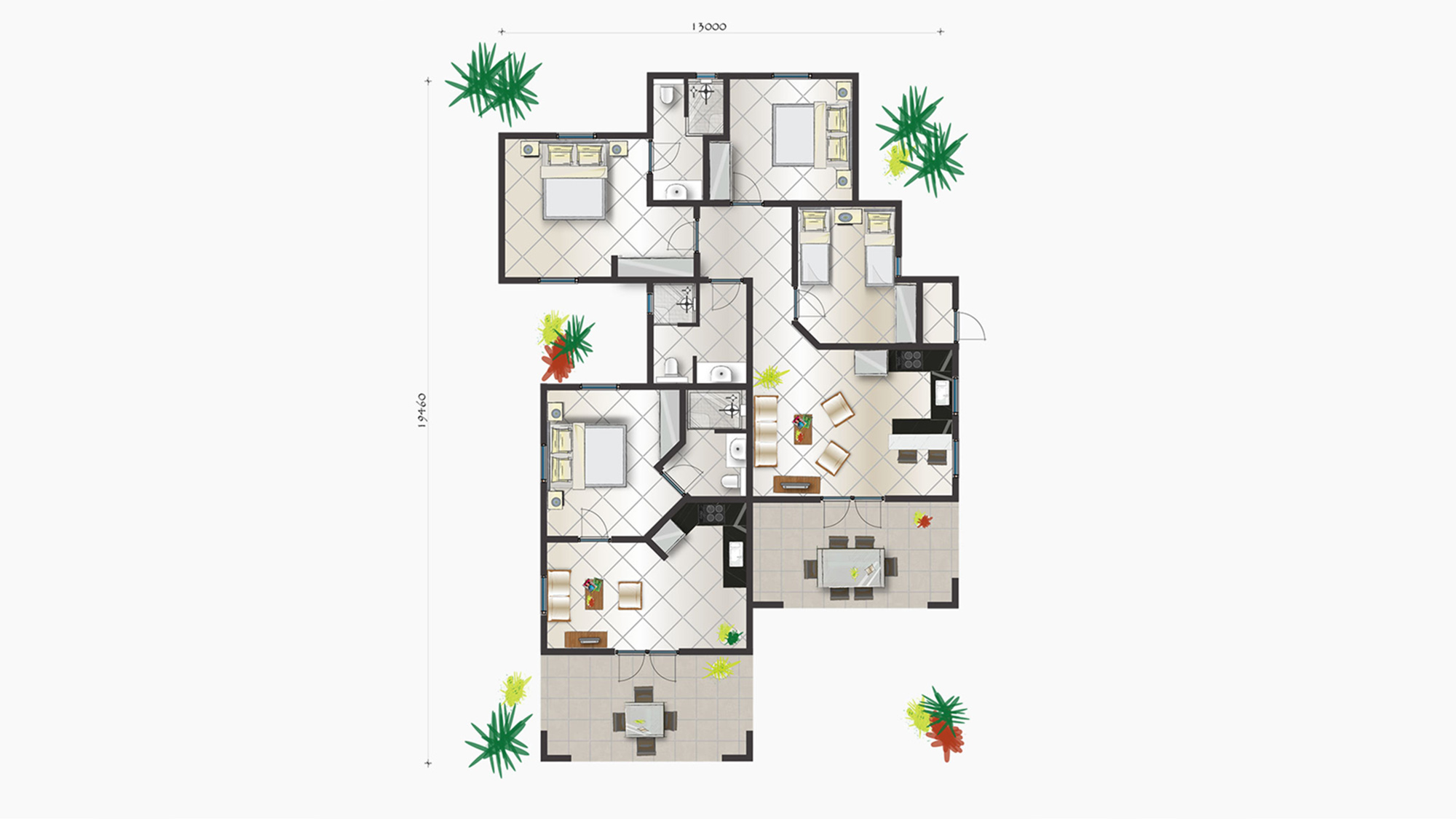 Apartment Trupial 3 bedrooms