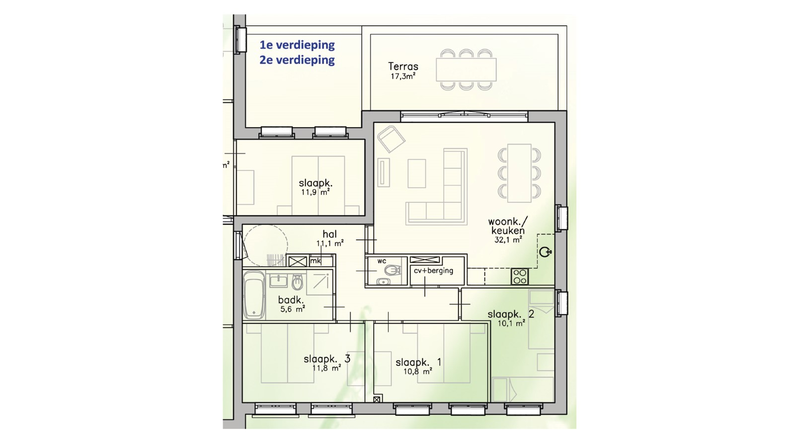 Comfort apartment - 3 bedrooms