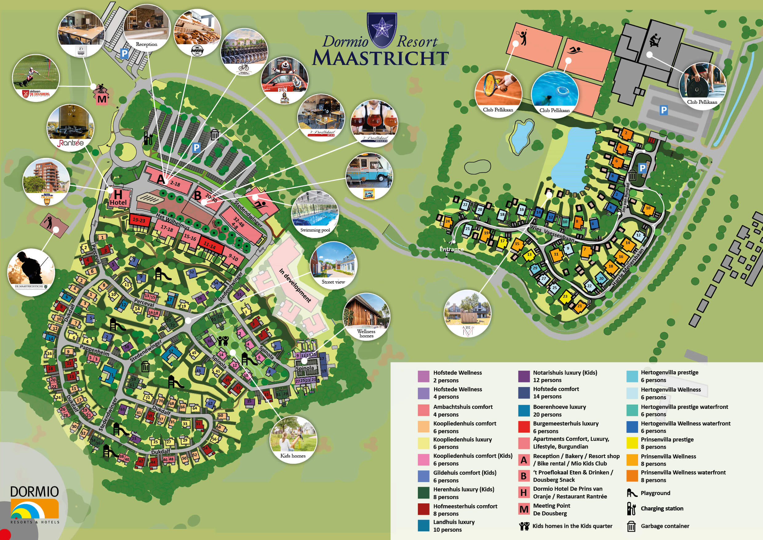 Map of Dormio Resort Maastricht